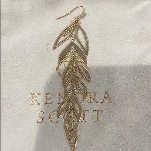 Auth RARE KENDRA SCOTT Zinnia Leaf Earring